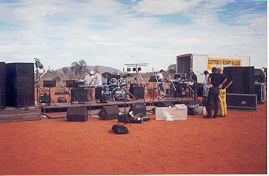setting up at Ayers Rock